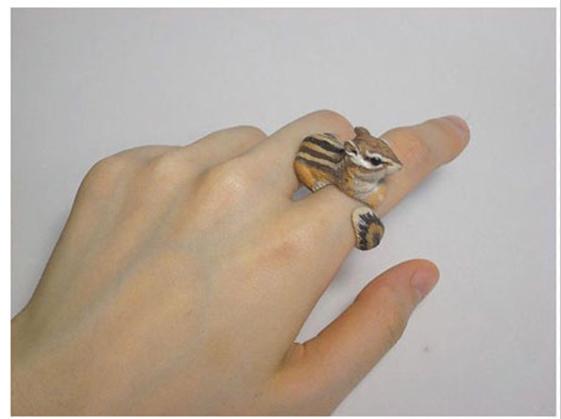 《日本艺术家Jiro Miura为Count Blue品牌创作的动物指环》