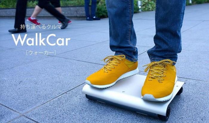 《日本团队开发能装进书包的便携代步车 Walkcar》