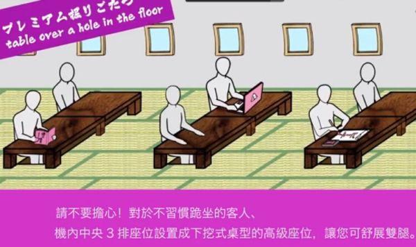 """《日本乐桃航空推出""""榻榻米地板""""跪坐式飞机》"""