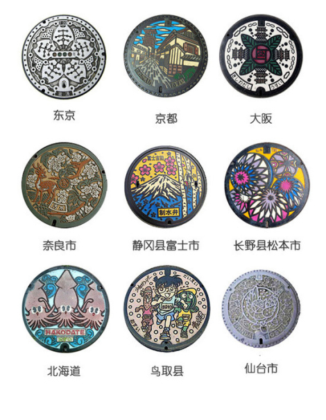 《在日本,井盖也能成为艺术品?》