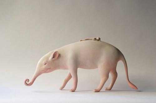 《日本艺术家Yoshimasa Tsuchiya动物木雕作品》